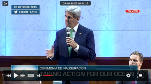 Captura de pantalla del streaming del Congreso del Futuro